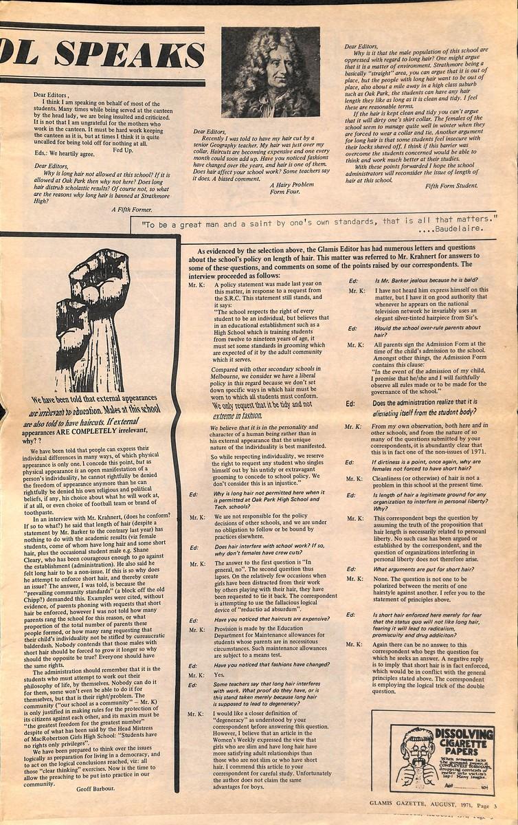 Volume 15 No  2 – August 1971 – Glamis Gazette