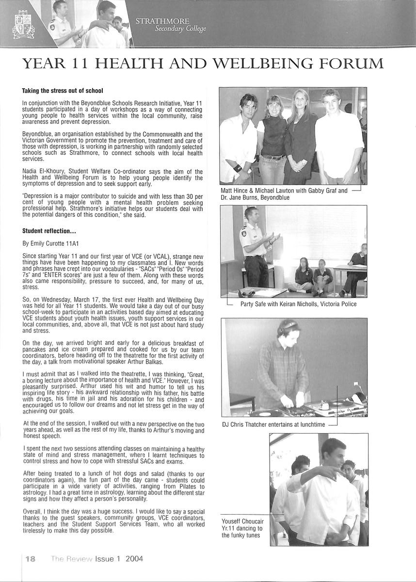 Volume 48 No  1 – Issue 1 2004 – Glamis Gazette